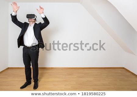 Imprenditore stanza vuota occhiali indossare no wallpaper Foto d'archivio © ra2studio