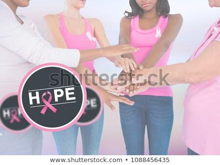 Esperança texto câncer de mama mulher céu nuvens Foto stock © wavebreak_media