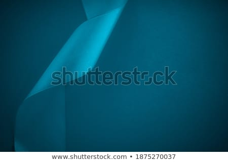Abstract silk ribbon on aqua blue background, exclusive luxury b Stock photo © Anneleven