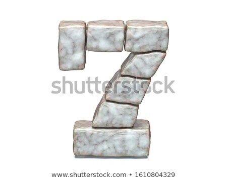 Rock masonry font Number 7 SEVEN 3D Stock photo © djmilic