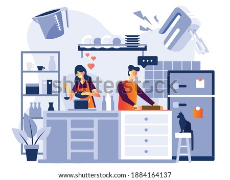 Happy young woman sitting on modern kitchen bench Stock photo © Giulio_Fornasar
