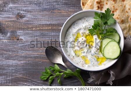 традиционный греческий соус закуска йогурт чеснока Сток-фото © furmanphoto