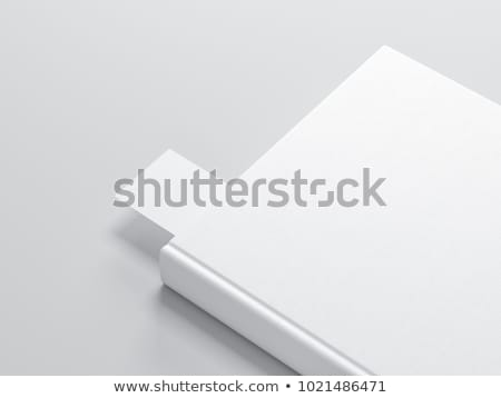 図書 ブックマーク 3次元の図 孤立した 白 ストックフォト © montego
