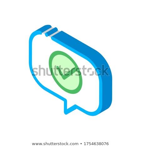 Citar discurso quadro aprovado isométrica Foto stock © pikepicture