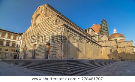 Buildings at Piazza San Lorenzo - Florence Stock photo © wjarek