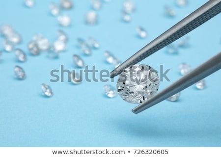 close up of large round diamond or gemstone isolated stock photo © arsgera