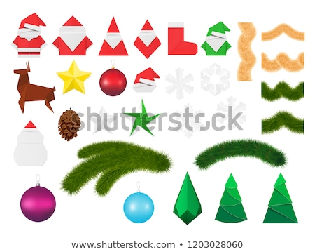 Christmas pinecone festoon with stars Stock photo © xaniapops