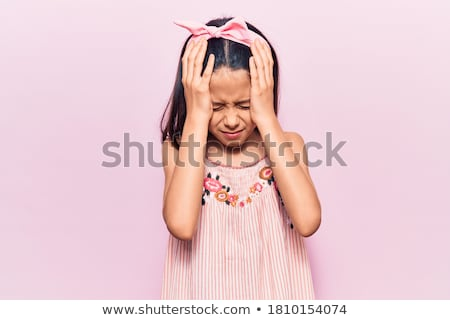 Brunette suffering from migraine Stock photo © photography33