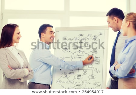 Businessman pointing to a flip chart Stock photo © photography33