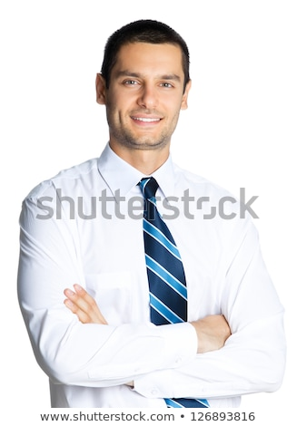 business man isolated over a white background stock photo © zittto