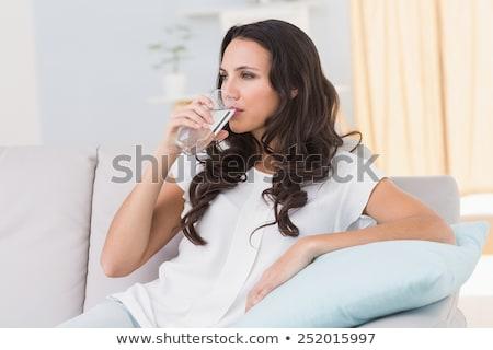 ブルネット 水 女性 笑顔 モデル ストックフォト © photography33