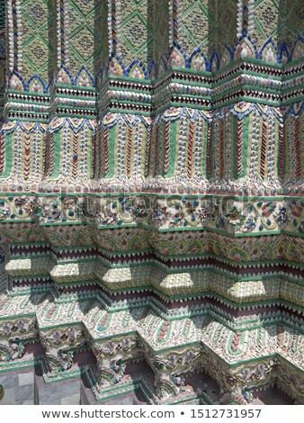 Rijke ingericht tempel Bangkok Thailand top Stockfoto © pzaxe