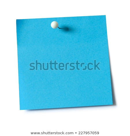 Sticky note with blue push pin Stock photo © Grazvydas