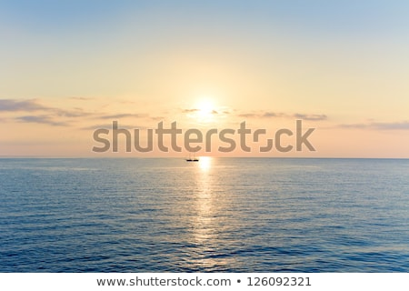 Abstract background with sea sunrise and yacht Stock photo © lem