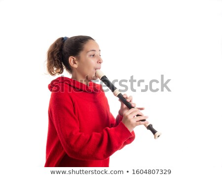 Girl with recorder Stock photo © photography33