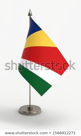 minyatür · bayrak · Seyşeller · yalıtılmış · mavi - stok fotoğraf © bosphorus