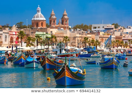 The maltese fishing village, colorful boats Stock photo © stokkete