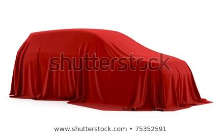 autó · álom · fedett · piros · ruha · szalag - stock fotó © cherezoff