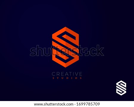 Design de logotipo agência olhos arte laranja engraçado Foto stock © Viva