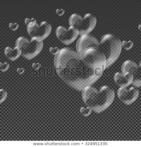 fille · bulles · de · savon · illustration · forme · de · coeur · coeur · couple - photo stock © adrenalina