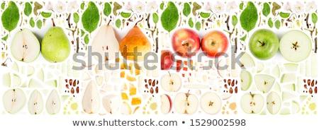 Red abstract apple Stock photo © Elmiko