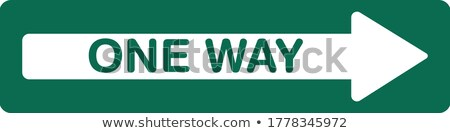 Left one way direction sign. Stock photo © latent