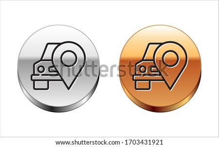 Transport Vehicle Gold Vector Icon Button Stock photo © rizwanali3d