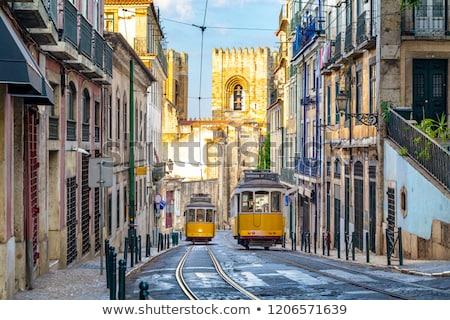 Lisbona strada centro sole giorno Portogallo Foto d'archivio © joyr