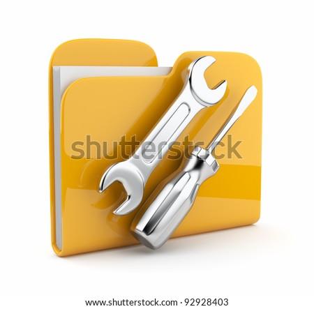 Repair File icon on white background. Stock photo © tkacchuk
