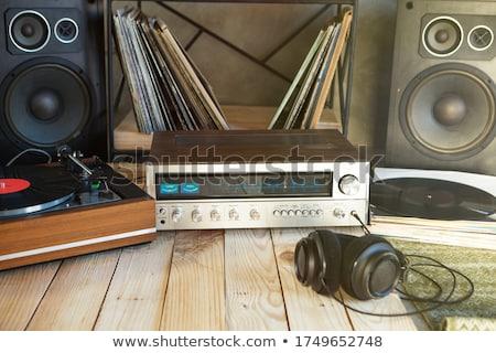 retro headphones and amplifier Stock photo © tracer