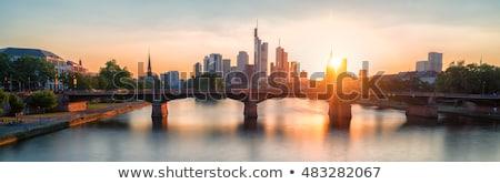 Frankfurt · skyline · hoofd- · rivier · Duitsland - stockfoto © meinzahn