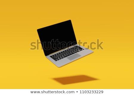 bilgisayar · adam · dizüstü · bilgisayar - stok fotoğraf © dicogm