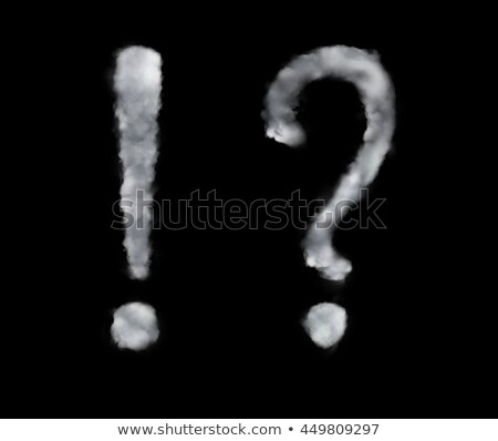 Fluffy cloud in the form of a question mark Stock photo © konradbak