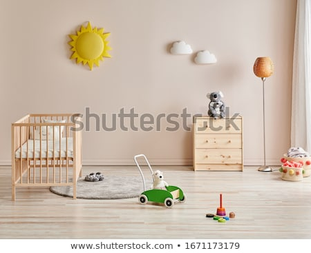 ребенка колыбель иллюстрация ребенка трава синий Сток-фото © adrenalina