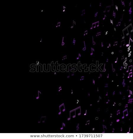 Hangjegyek ibolya vektor ikon terv digitális Stock fotó © rizwanali3d