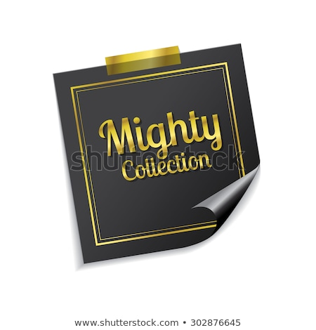 Mighty Collection Golden Sticky Notes Vector Icon Design Stock photo © rizwanali3d