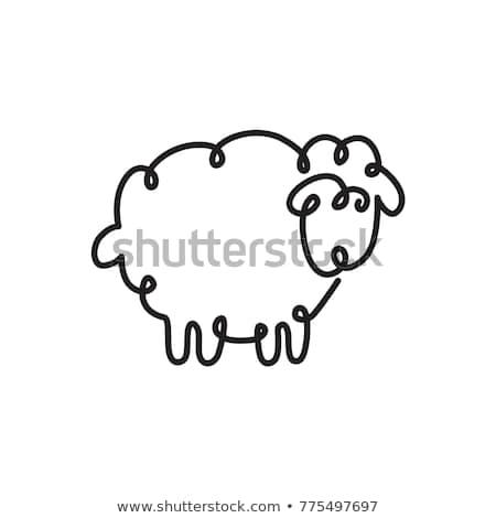 doodle sheep Stock photo © netkov1