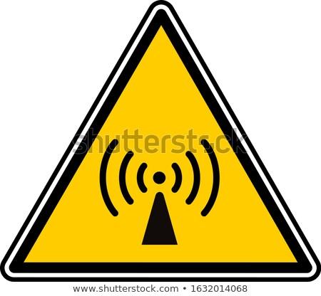 Radyo sinyal sarı vektör ikon dizayn Stok fotoğraf © rizwanali3d