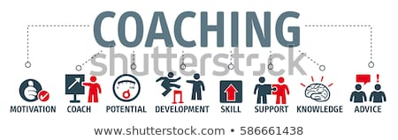 Coaching Icon. Business Concept. Stock photo © WaD