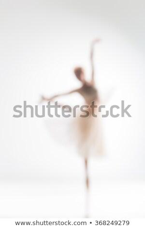 ぼやけた シルエット バレリーナ 白 ダンス ダンス ストックフォト © master1305