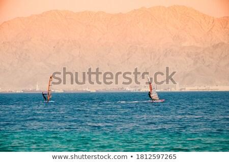 het · windsurfen · mooie · strand · natuur · landschap · zee - stockfoto © asturianu