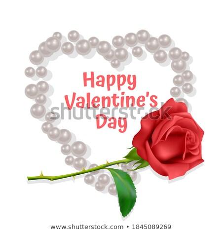 Vector bokeh valentine card. EPS 8 Stock photo © beholdereye