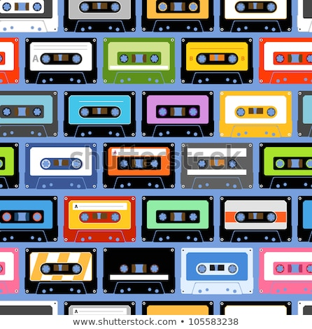 vintage tape cassette with name on it stock photo © lkeskinen