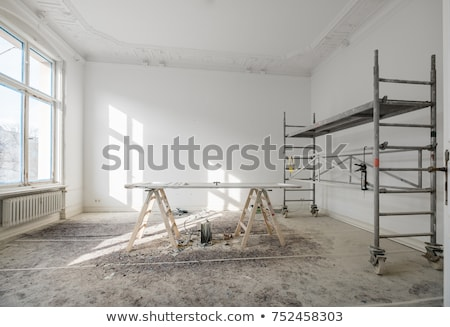Scaffolding on a building during renovation. Stock photo © latent