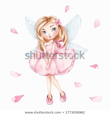 fadas · ilustração · bonitinho · arte · cartão · feminino - foto stock © dazdraperma