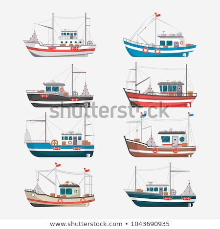 Fishing boat floating on water Stock photo © bluering