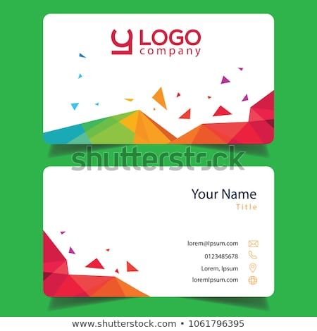 A colourful calling card Stock photo © bluering