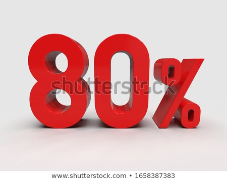 Stock photo: Red eighty percent