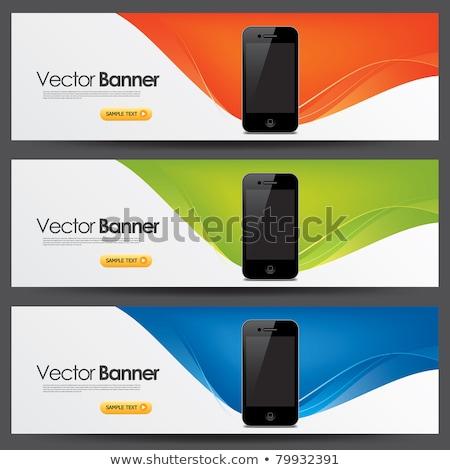 digital technology style vector headers set Stock photo © SArts