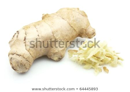 Geheel gember wortel vers witte voedsel Stockfoto © Digifoodstock